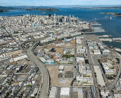 Aerial view of Mission Bay