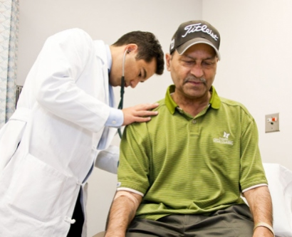 A UCSF transplant patient gets a check-up