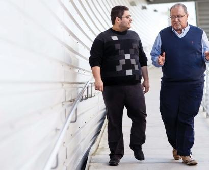 Michael Lopez and Ruben Espinoza walking