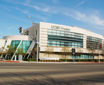 Exterior of UCSF Fresno building in downtown Fresno