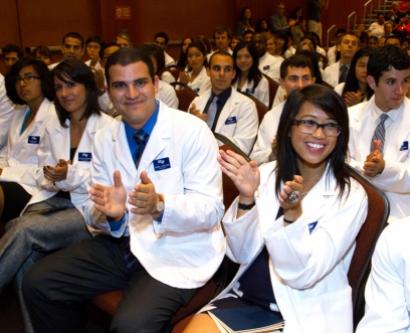 School of Medicine white coat ceremony on Aug. 30