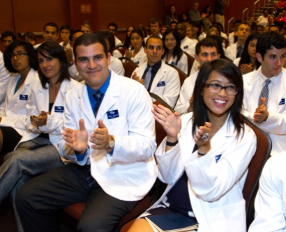 School of Medicine white coat ceremony on Aug. 30