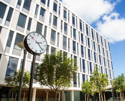 The exterior of UCSF's Mission Hall