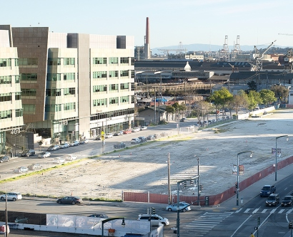 The Block 33 parcel at UCSF's Mission Bay campus