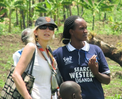 Diane Havlir, MD next to and Jane Kabami, MPH in Western Uganda.