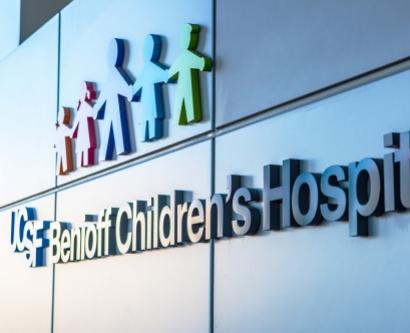UCSF Benioff Children's Hospital sign