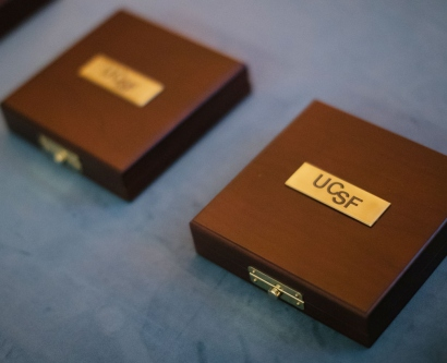 UCSF Medal boxes lined up