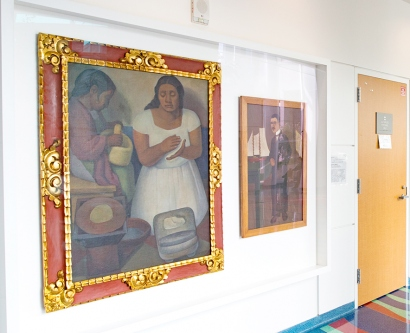 "Diego Rivera's ""La Tortillera"" painting and Frieda Kahlo's portrait of the late Leo Eloesser"
