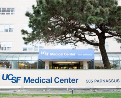 the entrance to the UCSF Medical Center at Parnassus