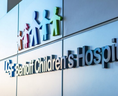 UCSF Benioff Children's Hospital San Francisco sign