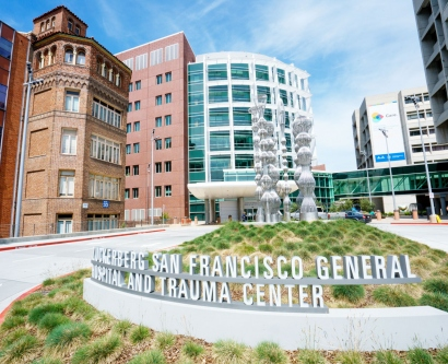 exterior of Zuckerberg San Francisco General Hospital