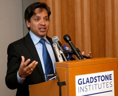 Deepak Srinastava speaks at news conference on Shinya Yamanaka winning 2012 Nobel Prize