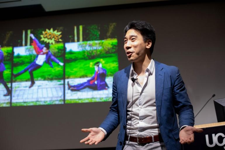 David Wu giving his Grad Slam talk