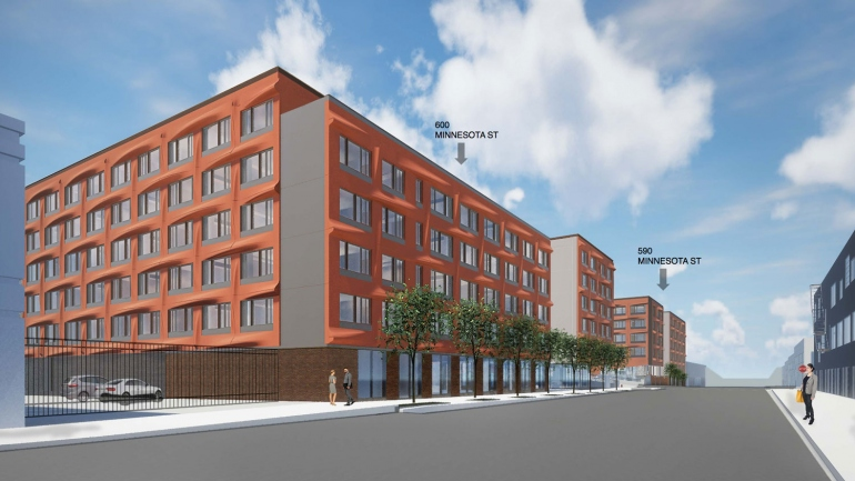 rendering of Minnesota Street Graduate Student and Trainee Housing