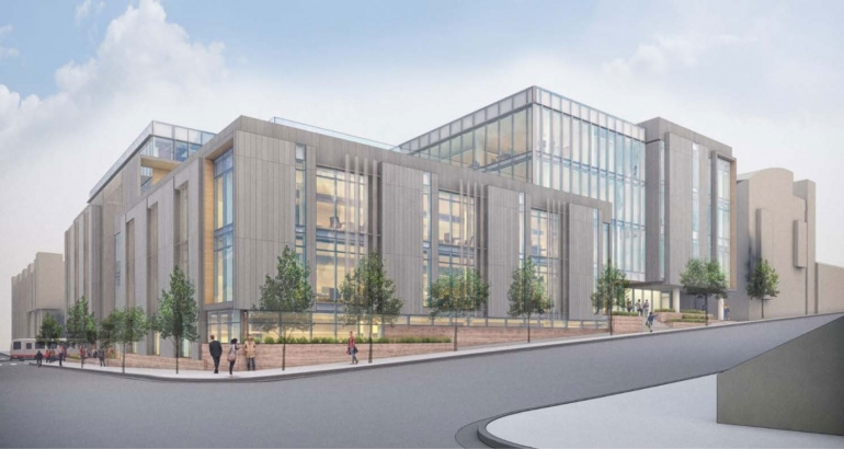 Psychiatry Building rendering