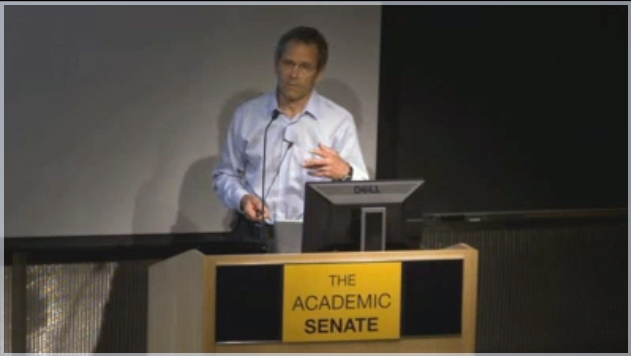Dean Sheppard delivers his lecture for the Faculty Research Lecture in Translational Science