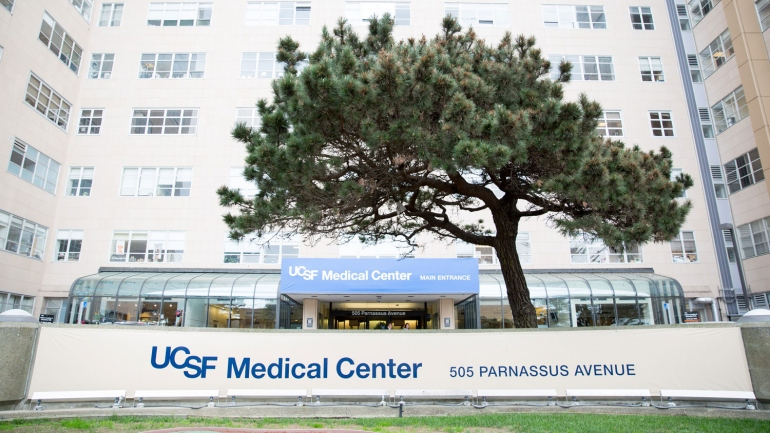 entrance of UCSF Medical Center at Parnassus