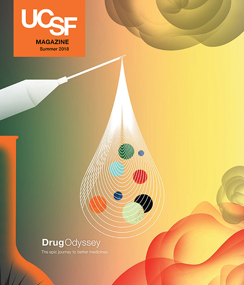 Cover of UCSF Magazine's Summer 2018 edition