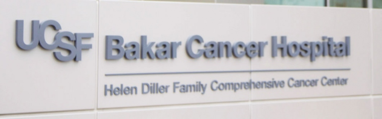 UCSF Bakar Cancer Hospital signage