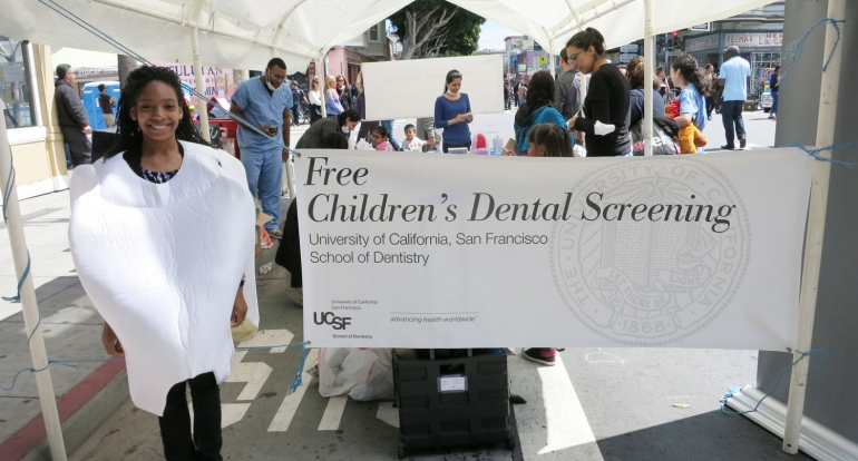 UCSF Students Offer Free Dental Screenings at Community Festivals