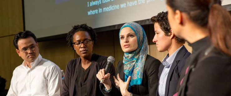 Panel at the teach-in