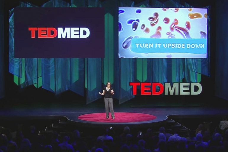wide shot of the TEDMED stage in 2014