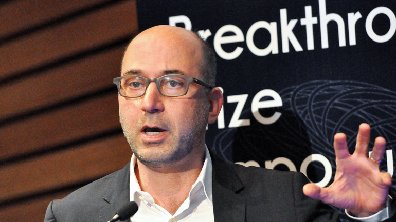 Jonathan Weissman speaks during the 2016 Breakthrough Prize Symposium at UC Berkeley