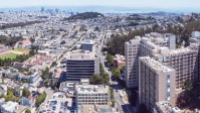 aerial view from Parnassus looking out toward downtown San Francisco