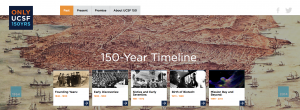 Screenshot of 150th anniversary website