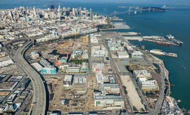 Aerial photo of the UCSF Mission Bay campus as of April 22, 2014