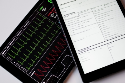 Medical data on tablet