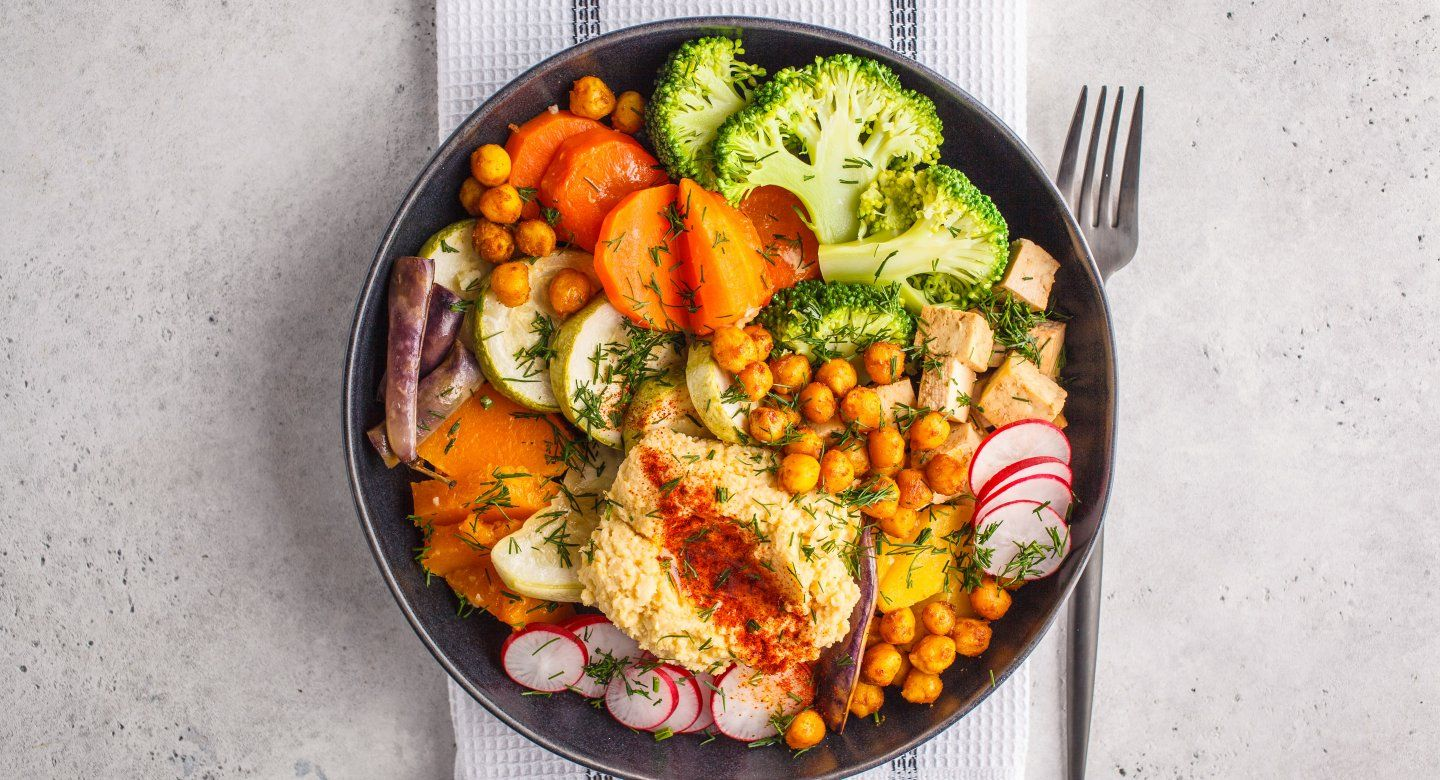 grain bowl with vegetables