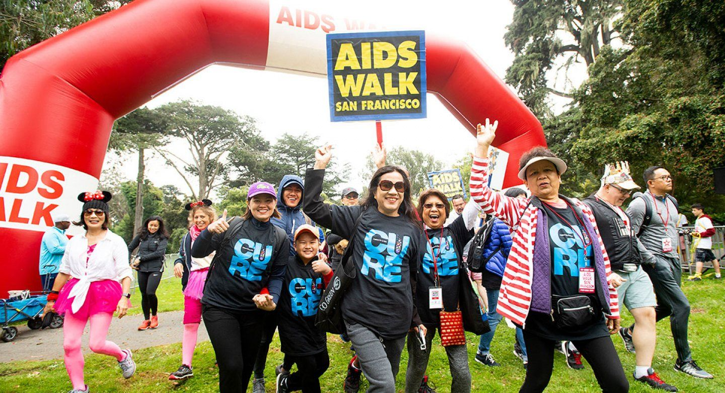 AIDS Walk participants