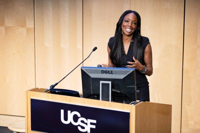 Nadine Burke Harris delivers lecture at UCSF