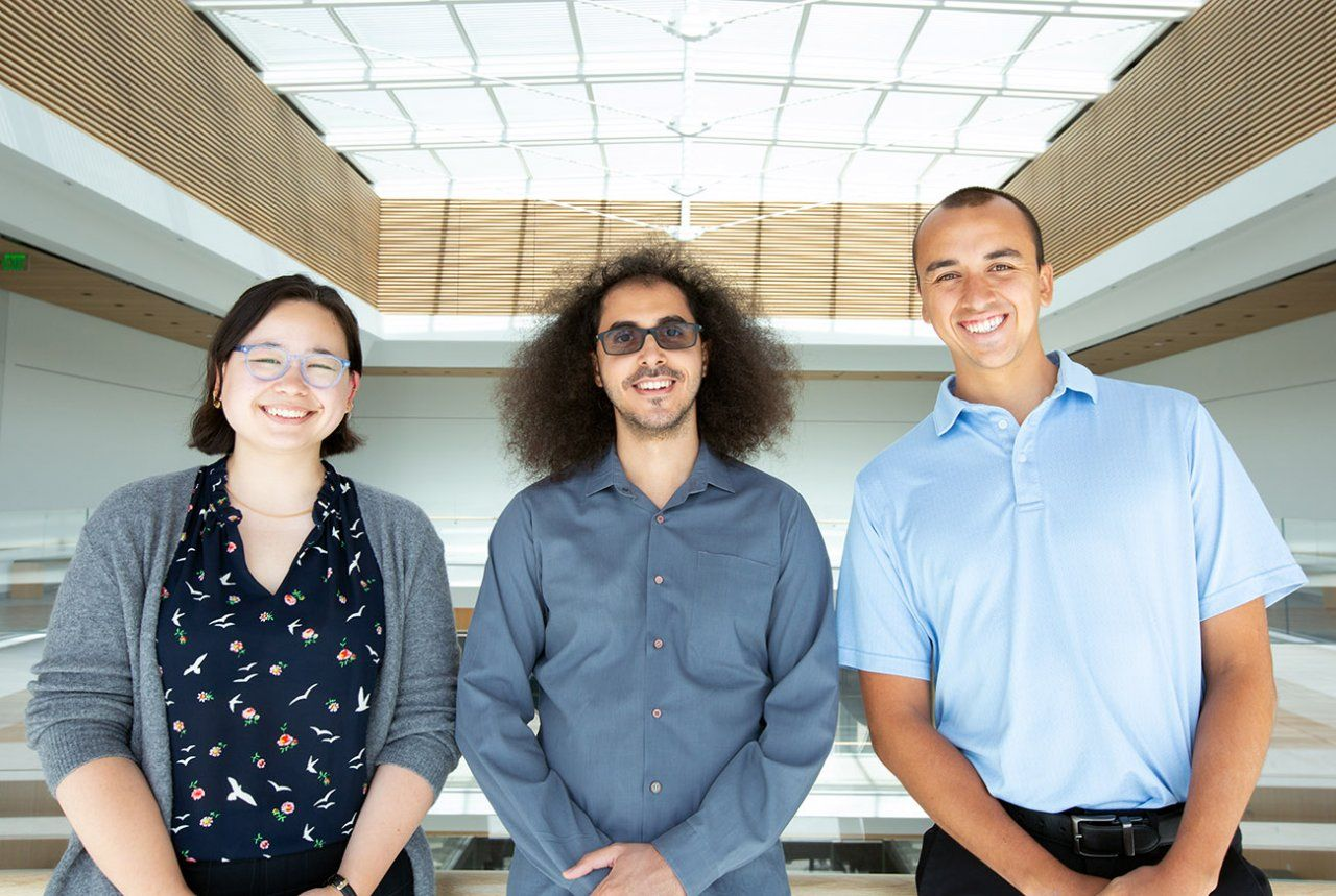 Three researchers who participated in the Bravo study side by side