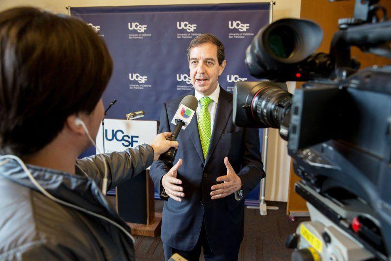 Jaime Sepulveda speaks to a video journalist