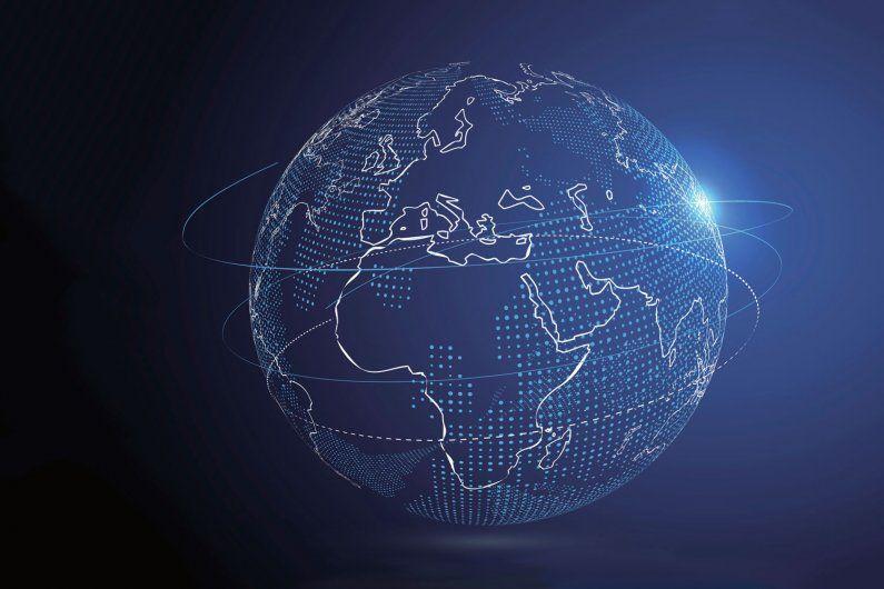 illustration of a globe