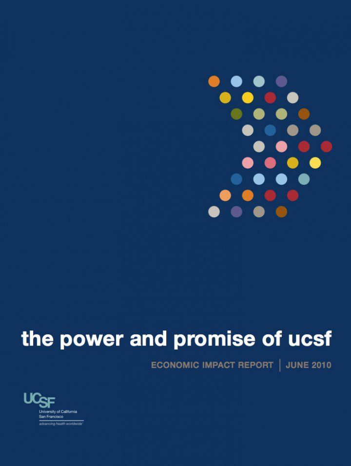 Cover of the 2010 Economic Impact Report with a right-facing arrow