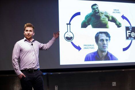 Ryan Muir giving his Grad Slam presentation