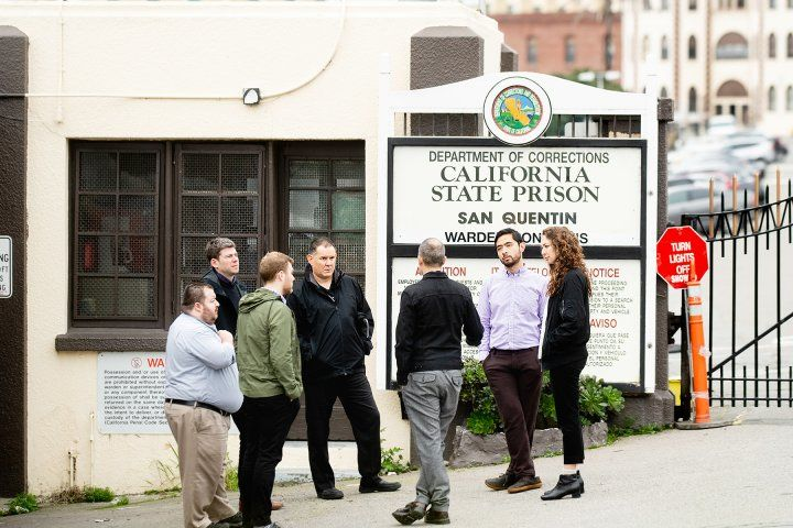 Public Psychiatry Fellows outside of San Quentin Prison
