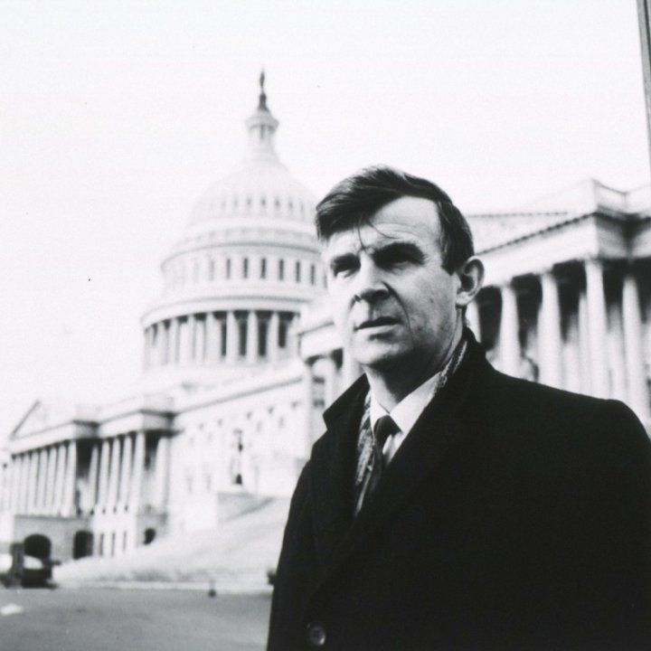 Philip Lee standing in front of US Capitol in 1960s
