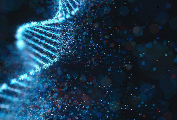 illustration of DNA strand dissolving