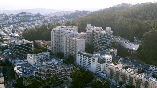 aerial image of UCSF Parnassus Heights campus
