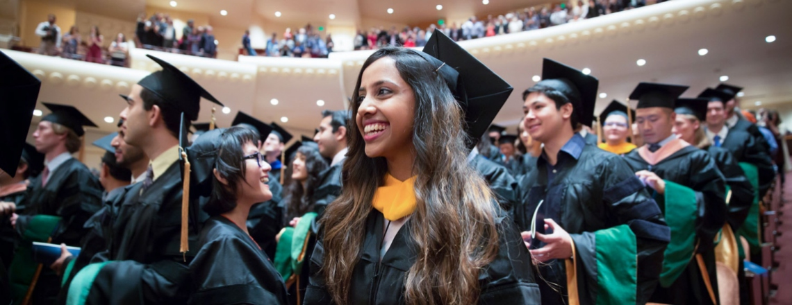 UCSF medical students during their commencement ceremony