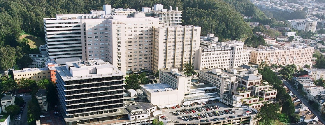 aerial view of UCSF's Parnassus Heights campus