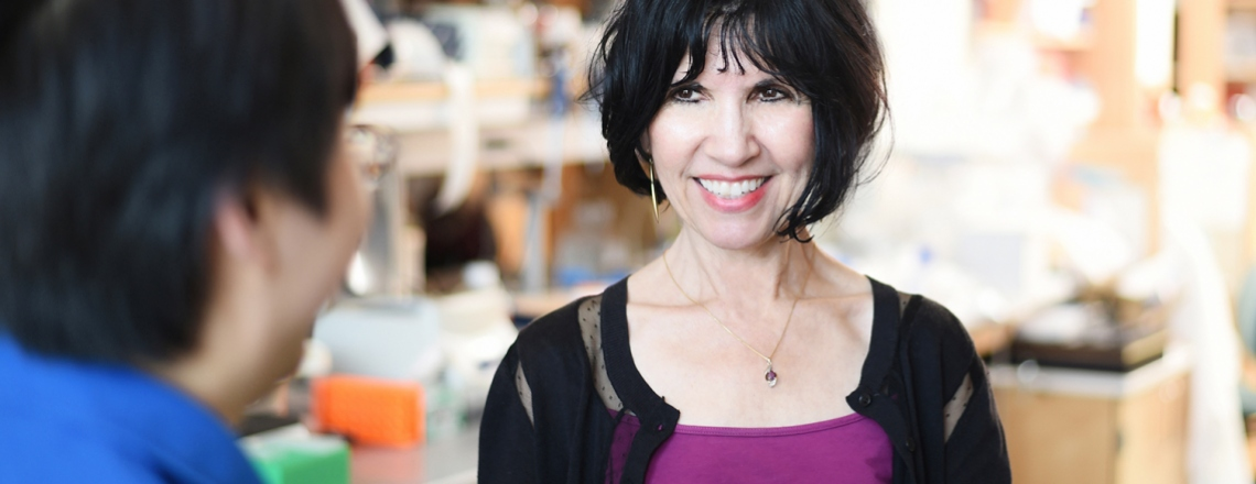 Kathy Giacomini in the lab