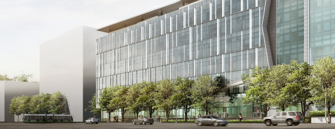 Architectural rendering of UCSF Precision Cancer Medicine Building