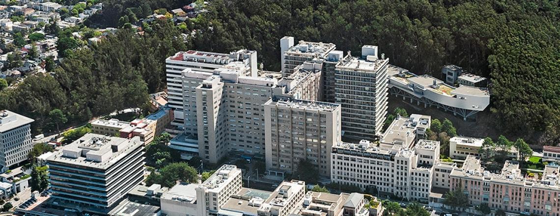 UCSF Parnassus campus aerial view.