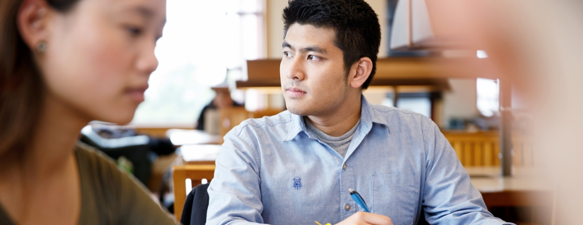 Jirayut Latthivongskorn works in the UCSF library