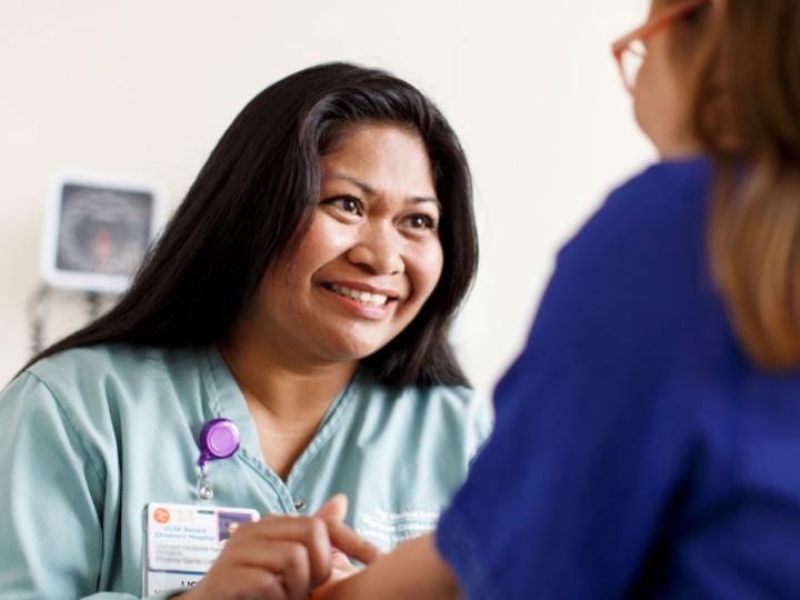 UCSF pediatric nurse tends to a patient